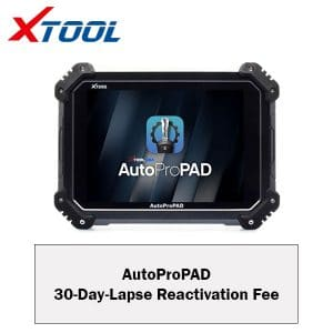 AutoProPAD 30 Day Lapse Reactivation Fee