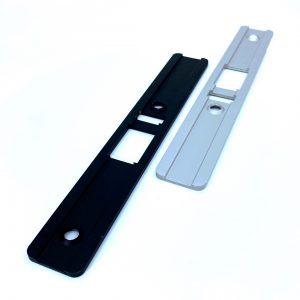 """Kenaurd Narrow-Stile 1-1/2"""" Latch Lock Body w/ 2 Faceplates / Left Hand"""