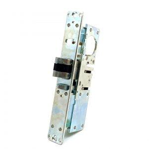 """Kenaurd Narrow-Stile 1-1/2"""" Latch Lock Body w/ 2 Faceplates / Right Hand"""