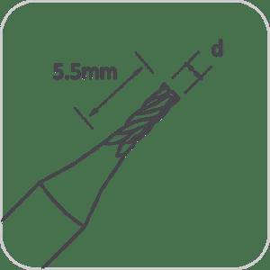 RAISE 2.5mm End Mill Cutter for Triton/Condor