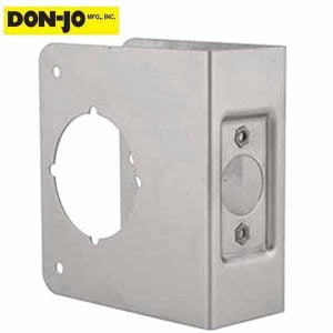 "Don-Jo - Wrap Plate - #81 - 2-3/4"" -1-3/4"" Doors - Silver (81-S-CW)"