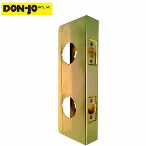 "Don-Jo - Dbl. Wrap Plate - #942 - 2-3/8"" - 1-3/4"" Doors - Gold (942-PB-CW)"