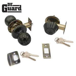 DeGuard Premium Combo Lockset - Oil Rubbed Bronze - Entrance - Grade 3 - SC1