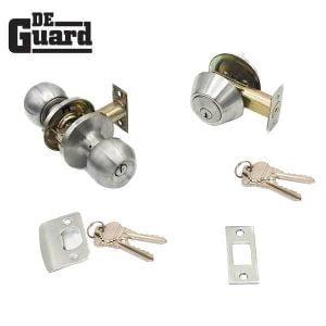 DeGuard Premium Combo Lockset - Stainless Steel - Entrance - Grade 3 - SC1