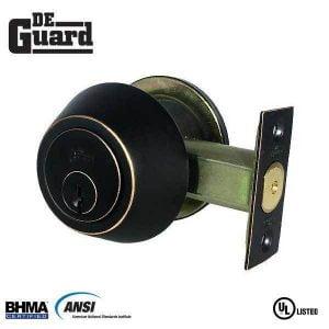 DeGuard Premium Single Cylinder Deadbolt - Oil Rubbed Bronze - Grade 3 - SC1