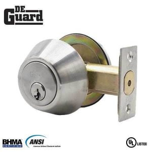 DeGuard Premium Single Cylinder Deadbolt - Stainless Steel - Grade 3 - (SC1 / KW1)