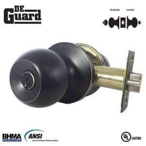 DeGuard Premium Knobset - Oil Rubbed Bronze - Entrance - Grade 3 - SC1