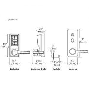 Simplex LL1011 Pushbutton Lever Lock - 26D - Satin Chrome - LH