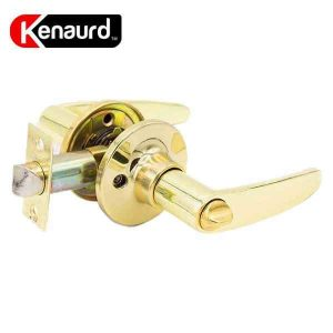 Kenaurd Premium Design #2 Entrance Leverset - Grade 3 - Bright Brass