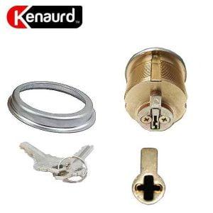 "Kenaurd Premium Mortise Cylinder - 1"" - 26D - Satin Chrome - SC1"