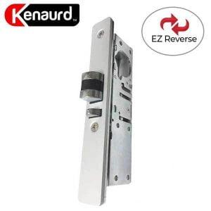 "Kenaurd Narrow-Stile - Latch Lock Body - Deadlatch - 1-1/8"" - with 2 Faceplates & EZ Reverse"