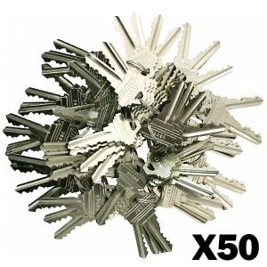 Pre-Cut Schlage Keys (SC1)-(Pack of 50)