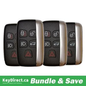 (Bundle of 4) 2011-2019 Jaguar Land Rover Range Rover / 5-Button Smart Key / PN: 5E0B40287 / KOBJTF10A (RSK-LR-F10A)