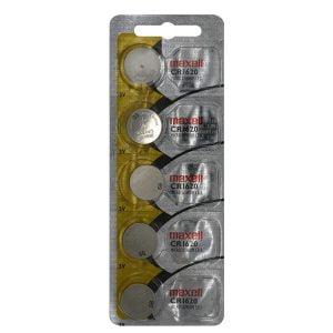5-PACK of CR1620 3-Volt Lithium Batteries
