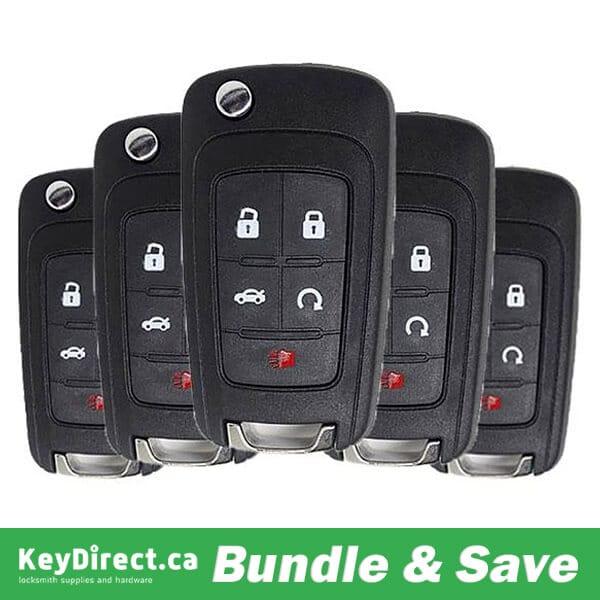 (BUNDLE OF 5) 2010-2019 GM / 5-Button Flip Key / OHT01060512 (RK-GM-FP5)
