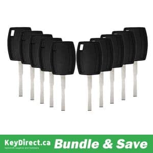 (BUNDLE OF 10) Ford H94-PT Side Mill Transponder Keys - Chip 4D63 80 Bit 164-R8062 / K-FD-H94
