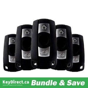 (BUNDLE OF 5) 2004-2011 BMW 3 / 5 Series / 3-Button Smart Key / KR55WK49127 KR55WK49123 / CAS3 (315 MHz) (RK-BM-127)