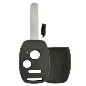 2002-2014 Honda / 3-Button Remote Head Key Shell / w/ Chip Holder / (RHS-HON-WCH-3)