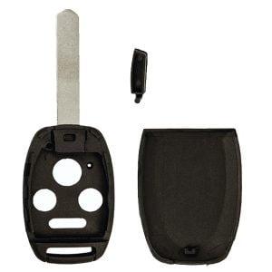 2003-2010 Honda Accord Element / 4- Button Remote Head Key Shell W/ Chip Holder / (RHS-HON-WCH-4)