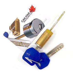 CanStarLock COMBO / Grade 2 Deadbolt US32D + Kik Cylinder