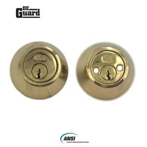 Heavy Duty Double Cylinder Deadbolt Lock - Polished Brass Finish