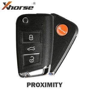 Xhorse MQB Style 3-Button Universal Flip Key w/ Proximity Function for VVDI Key Tool / XSMQB1EN