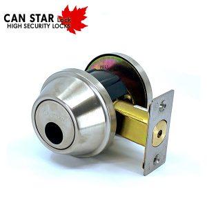 CanStarLock - Grade 2 Deadbolt - US32D (Less Cylinder)