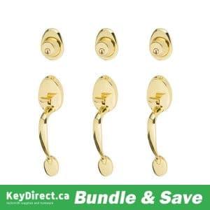 BUNDLE OF 3 / Dorex MANOR Gripset – Polished Brass – US3