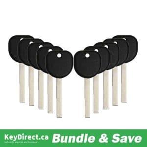 BUNDLE OF 10 / B119 / GM Transponder Key SHELL (No Chip) (ST-B119)