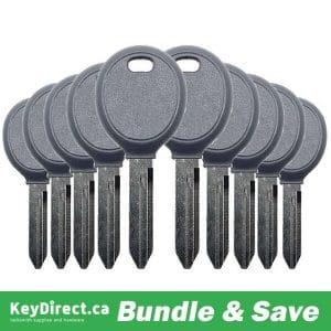 BUNDLE OF 10 / Chrysler/ Dodge/ Jeep Y160 Transponder Key (4D64) K-Y160