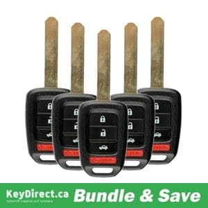 BUNDLE OF 5 / 2016-2018 Honda Accord Civic / 4-Button Remote Head Key / MLBHLIK6-1TA (RK-HON-1TA-4)