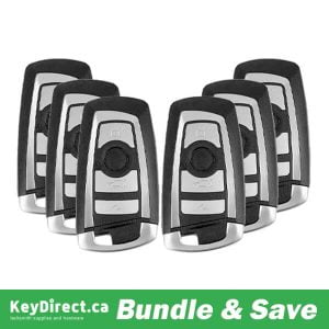 BUNDLE OF 6 / 2009-2016 BMW 3 / 5 / 7 Series / 4-Button Smart Key / YGOHUF5662 / FEM (433 Mhz) (RSK-BMW-562)