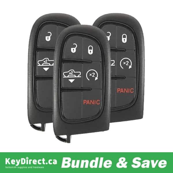 BUNDLE OF 3 / 2013-2018 Dodge Ram / 5-Button Smart Key - Air Suspension / PN: 68159657 / GQ4-54T ( RSK-DODGE-RAM-5)