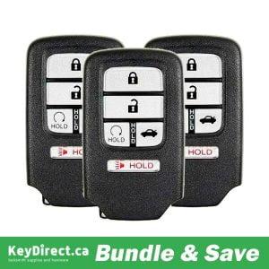 (Bundle of 3) 2016-2019 Honda Civic / 5-Button Smart Key / KR5V2X (RSK-HON-CIV-5)