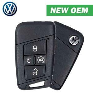 2018-2020 Volkswagen Atlas Passat / 5-Button Smart Key / PN: 3G0 959 752T / KR5FS14-US / w/ Comfort Access / MQB (OEM)