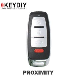 KEYDIY Audi Style 4-Button Universal Smart Key w/ Proximity Function (KD-ZB08-4)