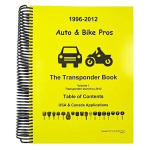 JOSH HEATH AUTO & BIKE TRANSPONDER BOOK - Volume 1 / Years 1996 - 2012