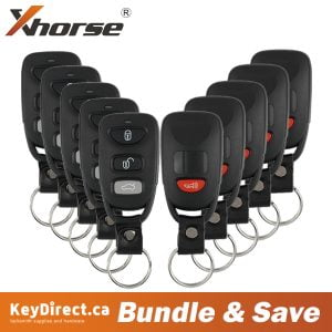 (Bundle of 10) Hyundai Style / 4-Button Universal Remote for VVDI Key Tool (Wired)