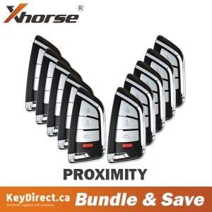 (Bundle of 10) Xhorse - Knife Style / 4-Button Universal Smart Key w/ Proximity Function for VVDI Key Tool