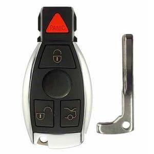 1997-2014 Mercedes Benz 4-Button Smart Key SHELL for IYZ-3312