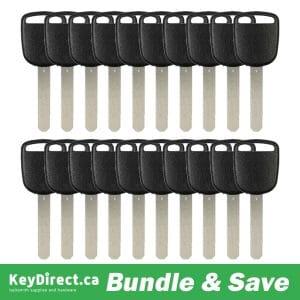 Bundle of 20 / HO03 Honda / Acura Transponder Key (V 46 Chip) (K-HO03)