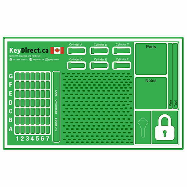 The Ultimate Pinning Mat for Locksmiths Professionals by KeyDirect
