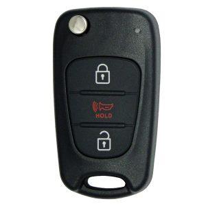 2010-2012 Kia Soul / 3-Button Flip Key / PN: 95430-2K250 / NY0SEKSAM11ATX (AM11MY) (RFK-KIA-TXSL)
