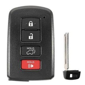 2013-2020 Toyota / 4-Button Smart Key SHELL / HYQ14FBA