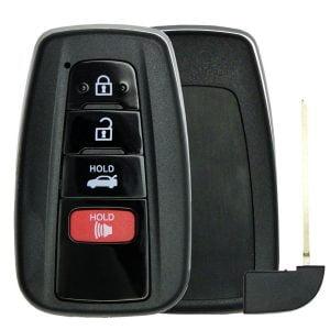 2018-2021 Toyota / 4-Button Smart Key SHELL  w/ Trun
