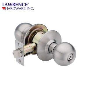 LAWRENCE HARDWARE 5300 SERIES – Entrance / Ball Knob / Door Knob / US26D Grade 2 / LH5305B