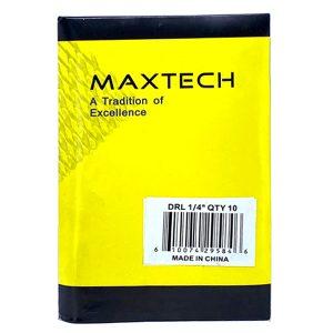 """MAXTECH Drill Bit Set 1/4"""" (Pack of 10)"""
