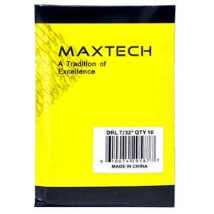 """MAXTECH Drill Bit Set 7/32"""" (Pack of 10)"""