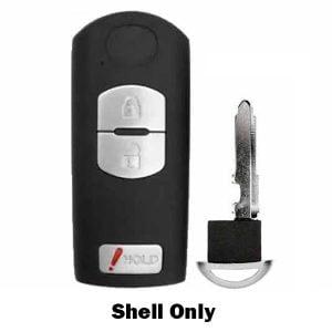 2009-2019 Mazda / 3-Button Smart Key SHELL for WAZSKE13D01, WAZX1T768SKE11A03 (RHS-MAZ-WAZ3B)