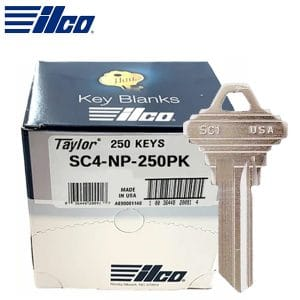 ILCO SC4 Schlage Key Blank / Nickle Plated / 250 Pack (SC4-NP-250PK)